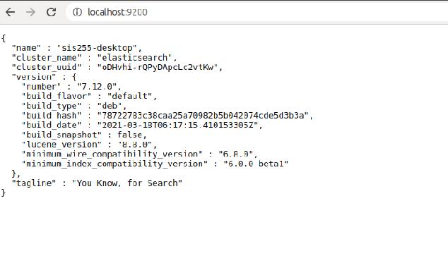 Output -Install Elasticsearch