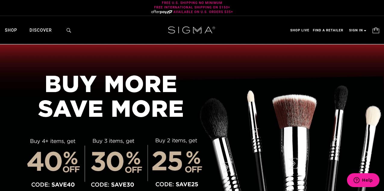 sigmabeauty online shop