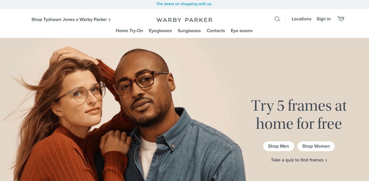 warbyparker top magento store