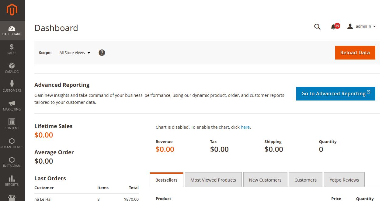 Magento 2.4.2 Admin Side